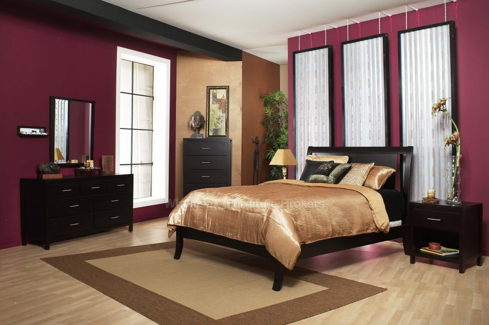 apartment color schemes maroon: red and gray bedroom ideas.