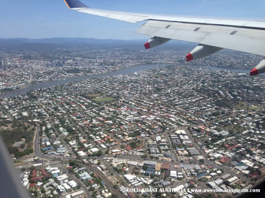 Australia from sky view dalam flight