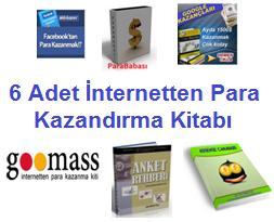 6 Adet İnternetten Para  Kazandırma Kitapları