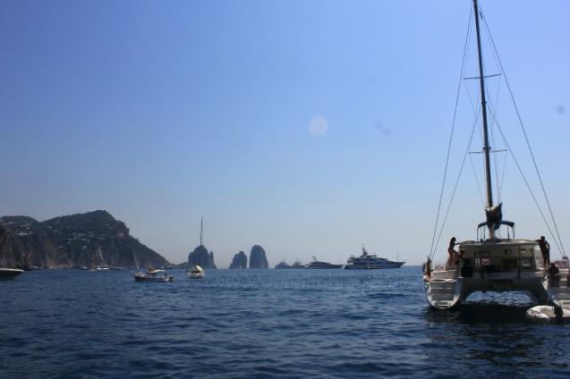 boats in Marina Piccola, Capri, Italy