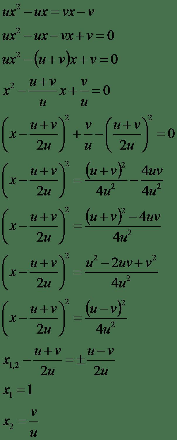 Mathematik für die Berufsmatura: Quadratische Gleichungen - Aufgaben