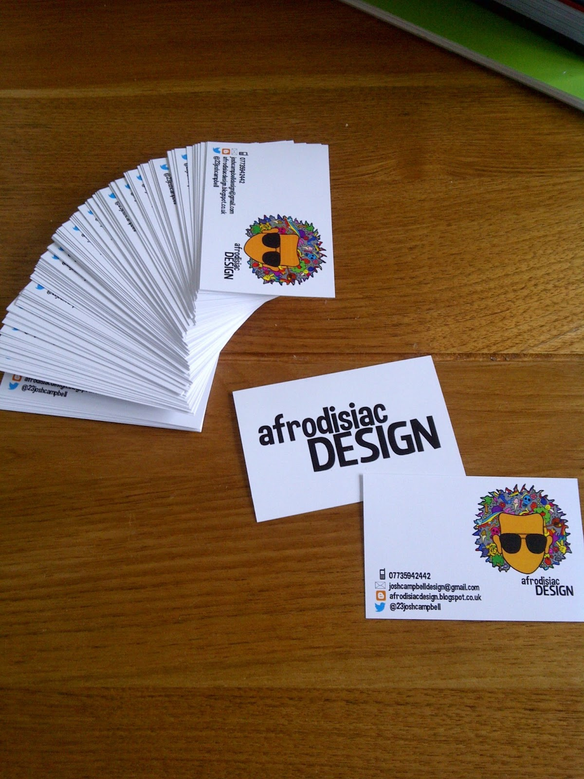 Business Cards and T-Shirts | afrodisiacDESIGN