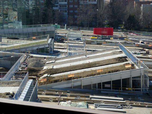 AASB visita CREAA. Vista de las cubiertas transitables desde arriba