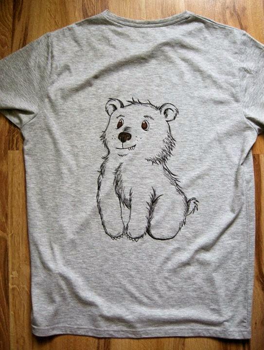 koszulka,+koszulka+z+misiem,+malowany+mi