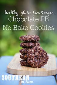 Gluten Free Chocolate Peanut Butter No Bake Cookies Recipe - healthy, low fat, gluten free, refined sugar free, clean eating friendly, no bake cookies, vegan
