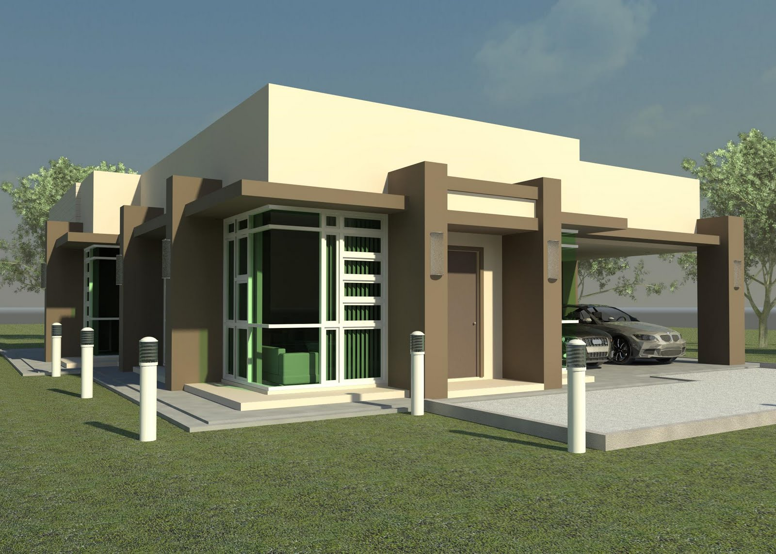 Modern small homes designs exterior. title=