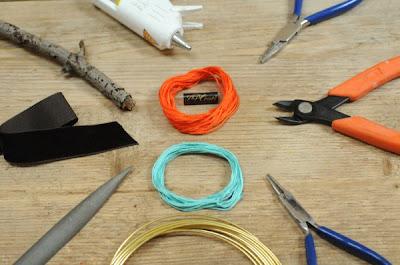 Herramienta de joyería de rama, alambre e hilo envuelto