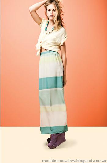 Basement moda verano 2013 maxifaldas.