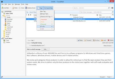 برنامج ارسال واستقبال البريد الالكتروني FossaMail 25.1.2
