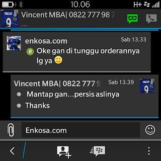 Testimoni Vincent di enkosa sport toko online jersey bola terpercaya