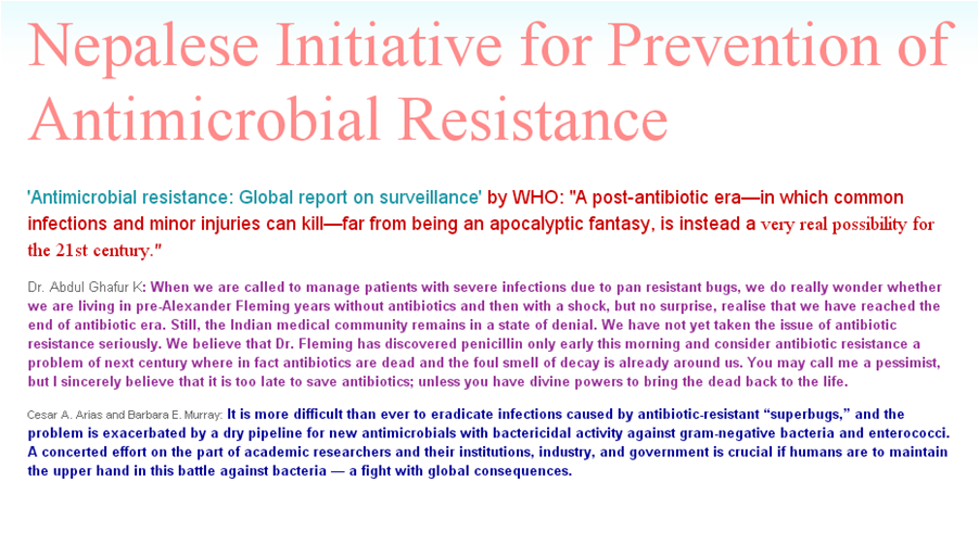 Nepalese Initiative for Prevention of Antimicrobial Resistance