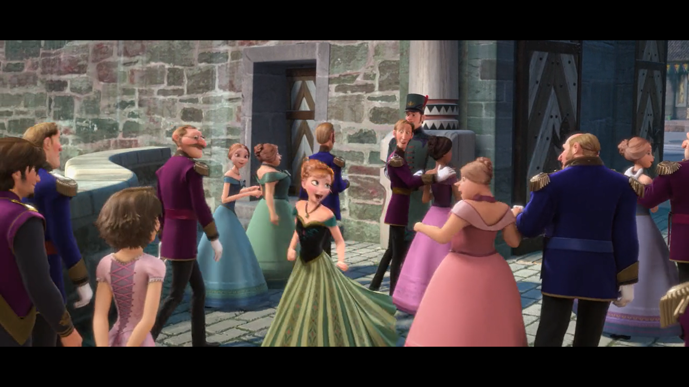 rapunzle and eugene in frozen