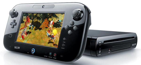 Image of video game Soul Saga: Episode 1 running on Wii U GamePad in front of console