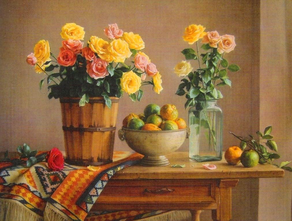 Pinturas cuadros lienzos pinturas floreros con frutas - Pintores de muebles ...
