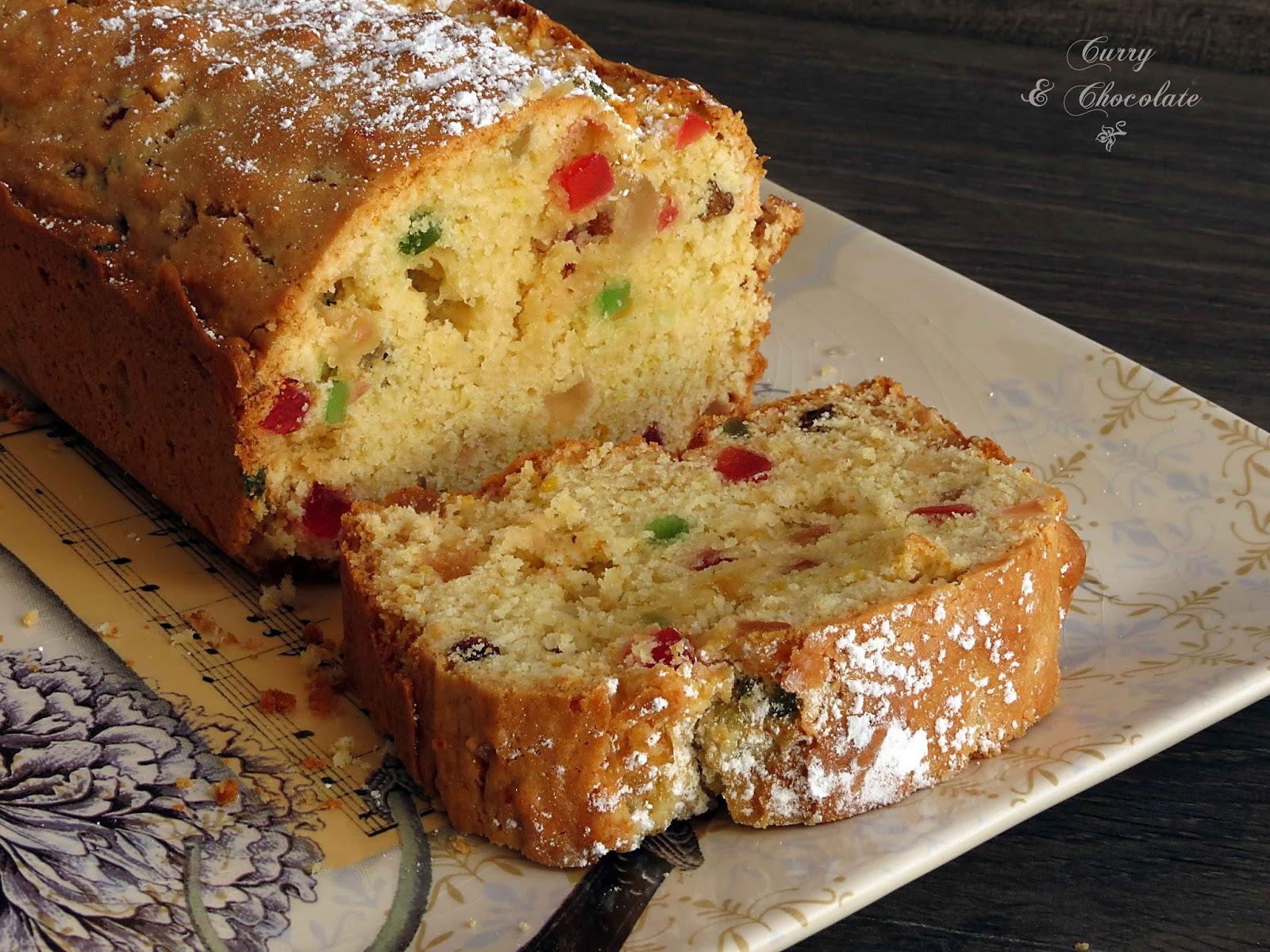 Plum cake de frutas confitadas ypasas con ron – Candied fruits cake