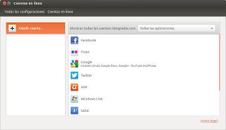 Gestor de cuentas, ubuntu webapps, novedades ubuntu 12.10