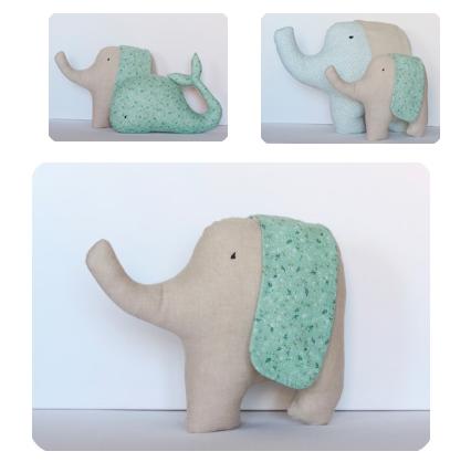 cojines infantiles de elefantes