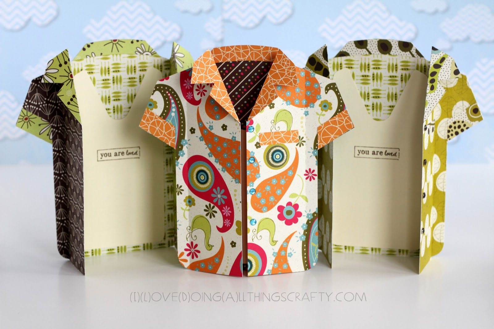 I love doing all things crafty shirt shaped cards for dad for Crafts for men to make