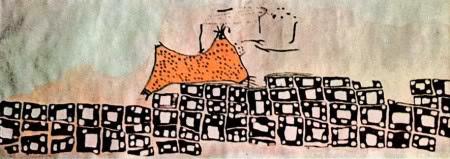 lukisan Catalhoyuk, map Catalhoyuk