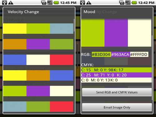 Color Mood Designer Android App