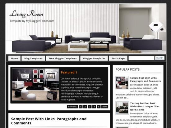 Living Room Blogger Template