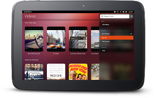 Ubuntu Tablet interface