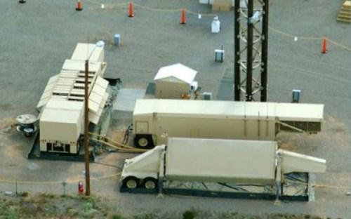 Fasilitas radar AS di gurun Negev Israel