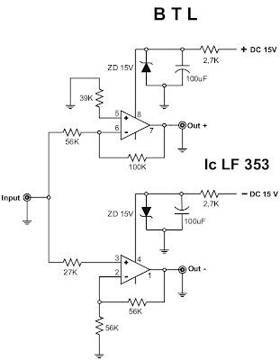 Skema Btl Untuk Power Amplifier Bagoes Elektronic