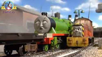 Castle tower flagpole sea matey Thomas and friends Salty the tank engine Henry the green locomotive