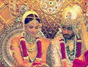 aishwarya rai in wedding dress on writing on life