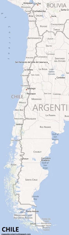 Mapa de CHILE , BING