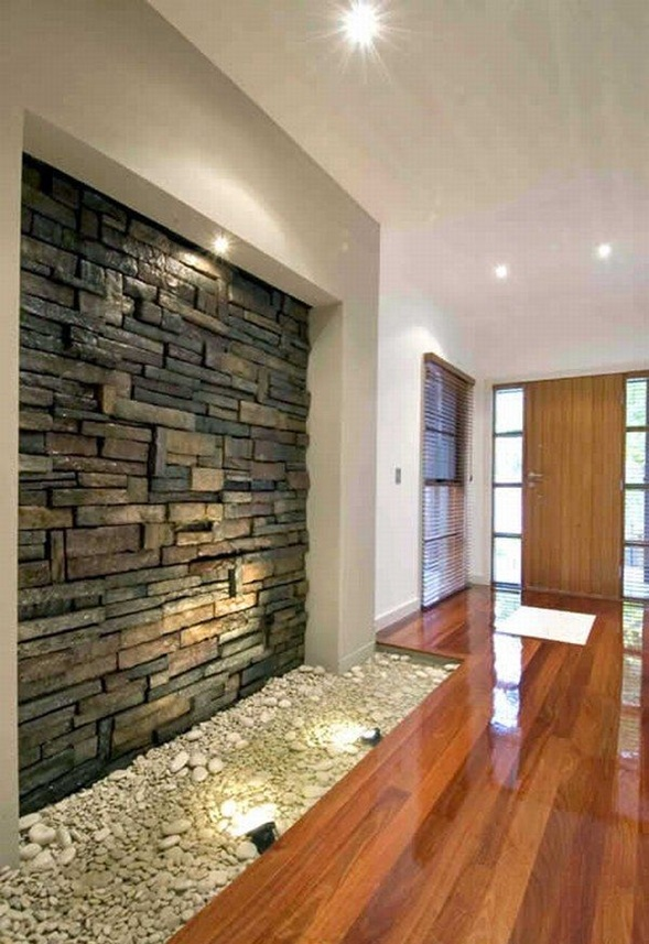 Interiores con Paredes de Piedra para Embellecer tu Hogar  DECORAR