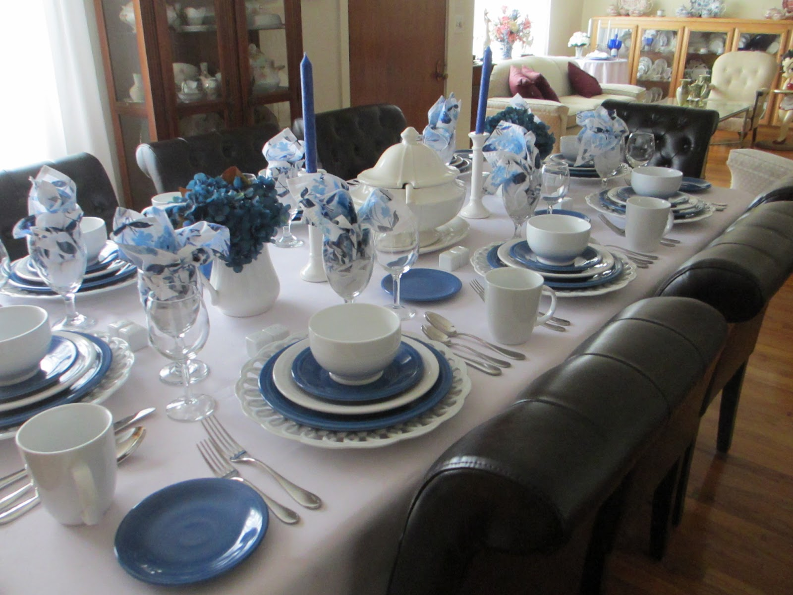 Lapis and White Fiesta Dinnerware Table & The Welcomed Guest: Lapis and White Fiesta Dinnerware Table