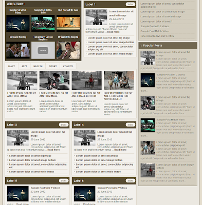 johny magazine blogger template video tabber