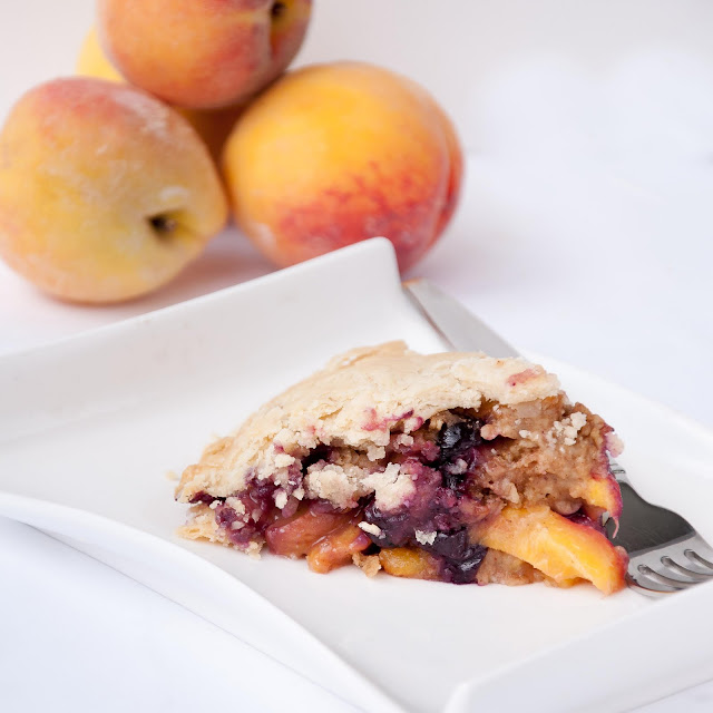peach, blueberry, pie, crumble, food network