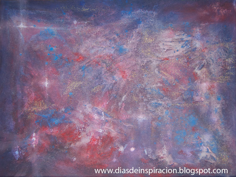 D as de inspiraci n arte con ni os nebulosa acr lico - Acrilico sobre lienzo ...