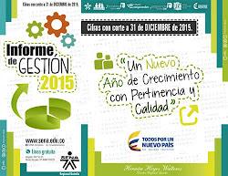 Informe de Gestión 2015 - Director SENA Regional Quindío