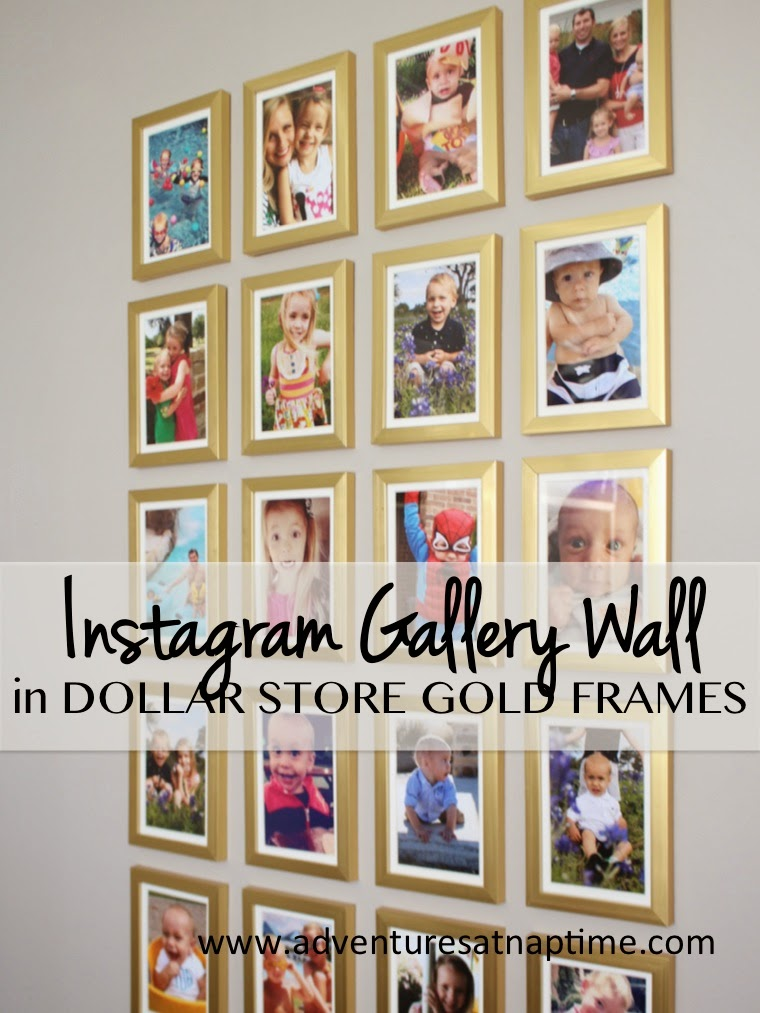 Gold Frame Instagram Gallery Wall