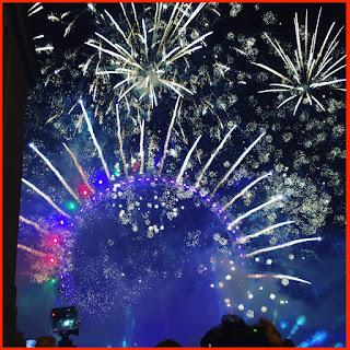 london, lonodon eye, fireworks, nye, new years eve, 2016
