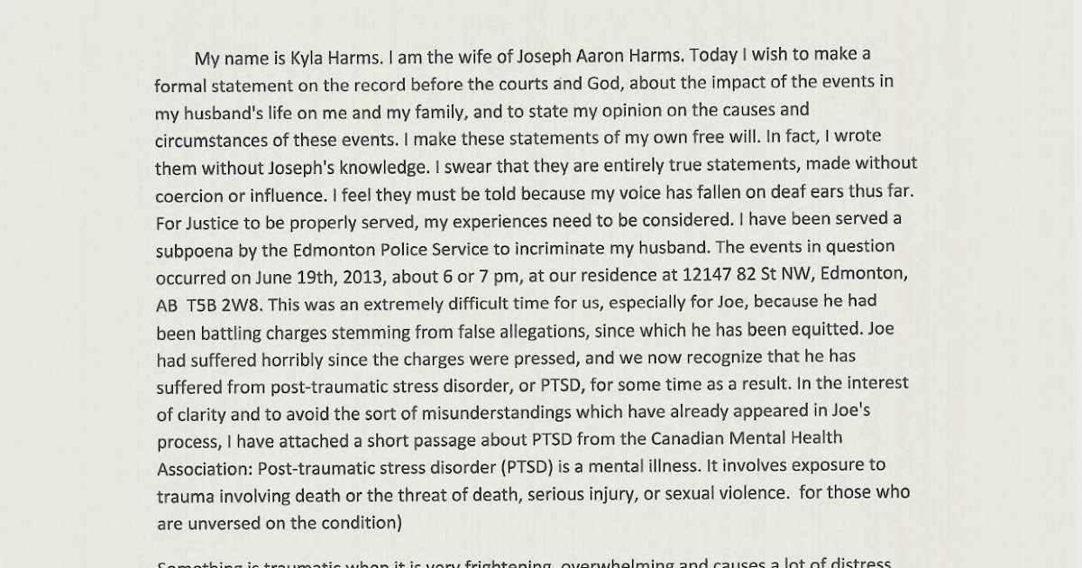 Tortured By Canadian Government: Victim Impact Statement .(Blog 82)