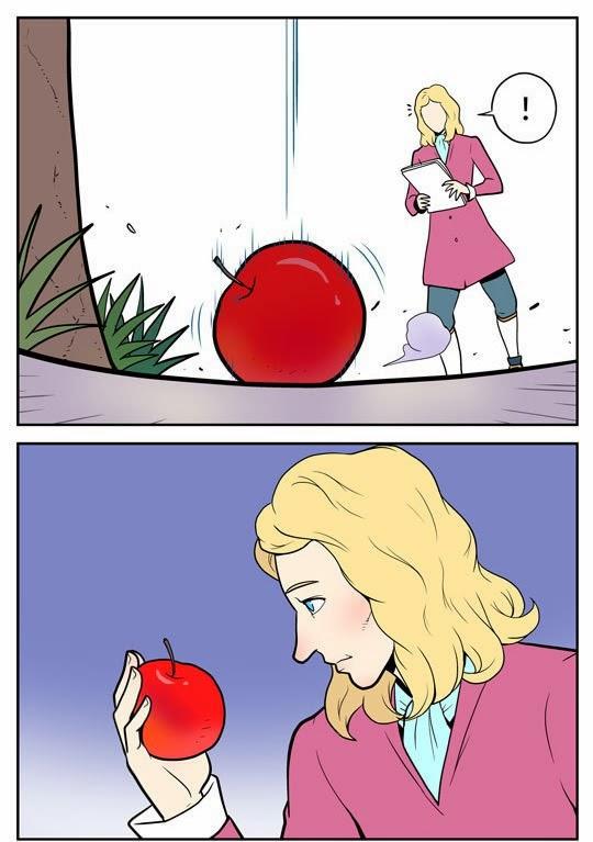 imagenes graciosas - Newton y el descubrimiento de su esposa