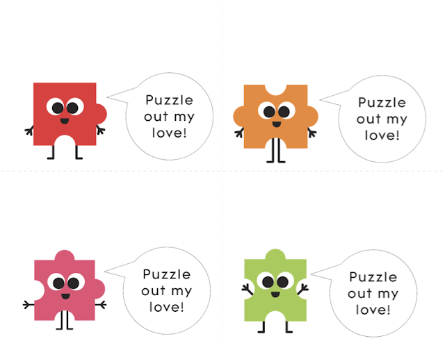 Valentine's Day Puzzle Printable from parents.com