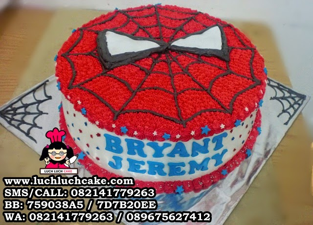 Spiderman Buttercream kue tart ulang tahun Daerah Surabaya - Sidoarjo