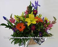 Beautiful flowers - Happy Rememberance Basket