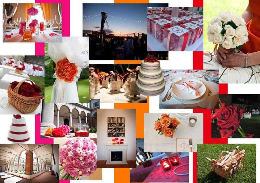 Matrimonio In Corso : Matrimonio in corso inspiration board arancione rosso fucsia