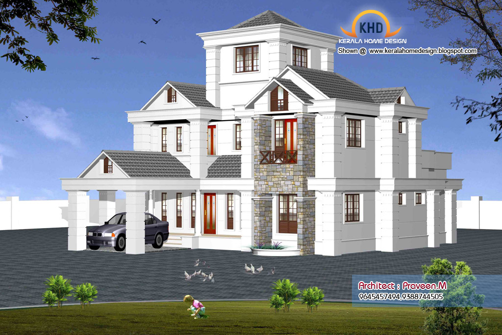 Indian style sweet home 3d designs kerala home - Home sweet home designs ...