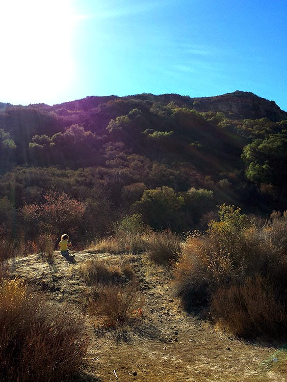 Hiking Peter Strauss Ranch with a toddler