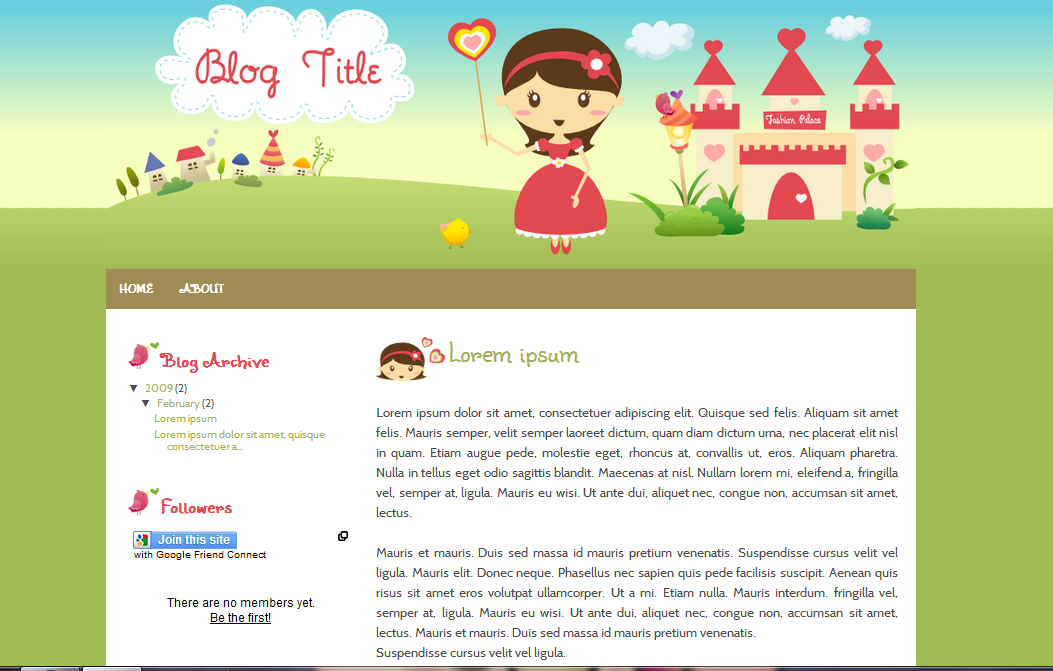 Ipietoon Cute Blog Design April 2012