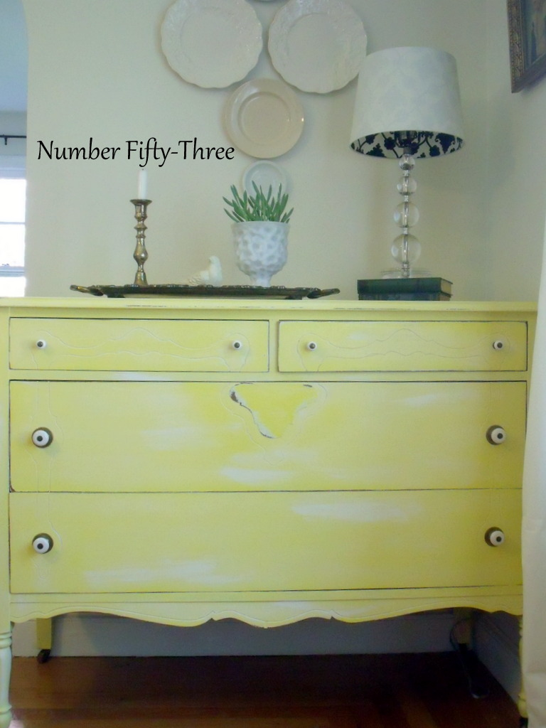 Number Fifty-Three: Cottage Yellow Dresser