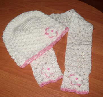 Czapeczka i szalik dla dziewczynki
